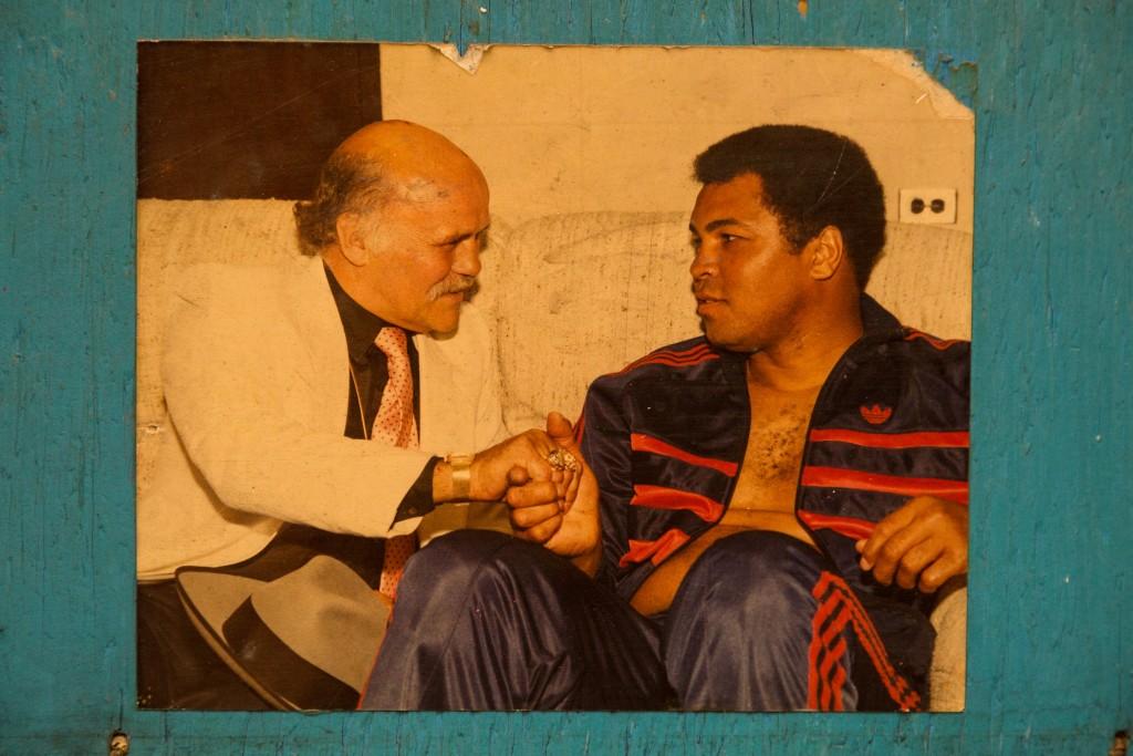 Pierre meeting Muhammad Ali in Edmonton
